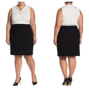 NWT Amanda & Chelsea black stretch pencil skirt